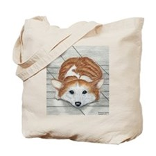 Corgi Eyes Tote Bag