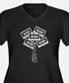 Retro Cassette Tape Plus Size T-Shirt