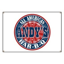 Andy's All American BBQ Banner
