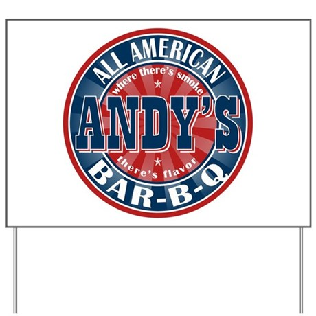 Andy's All American BBQ Yard Sign
