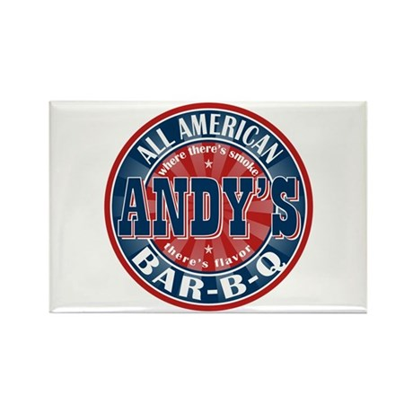 Andy's All American BBQ Rectangle Magnet