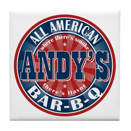 Andy's All American BBQ Tile Coaster