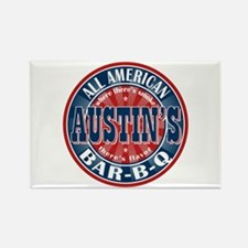 Austin's All American BBQ Rectangle Magnet