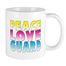 PEACE LOVE GUARD Mug