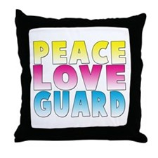 PEACE LOVE GUARD Throw Pillow