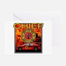 FIRE CHIEF Greeting Cards (Pk of 10)