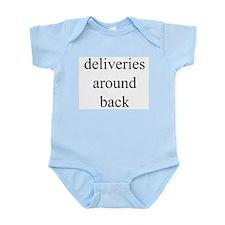 deliveries around back Infant Bodysuit