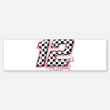 RaceFashion.com 12 Bumper Bumper Bumper Sticker