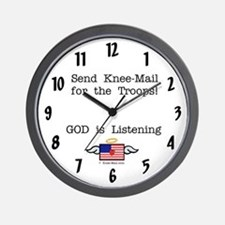 Send KNEE-Mail for the Troops Wall Clock