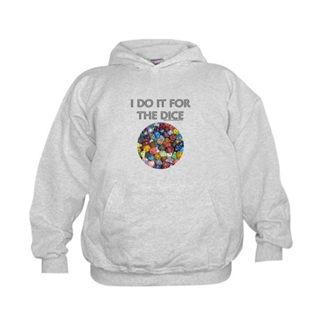 I do it for the dice! (Circular) Kids Hoodie