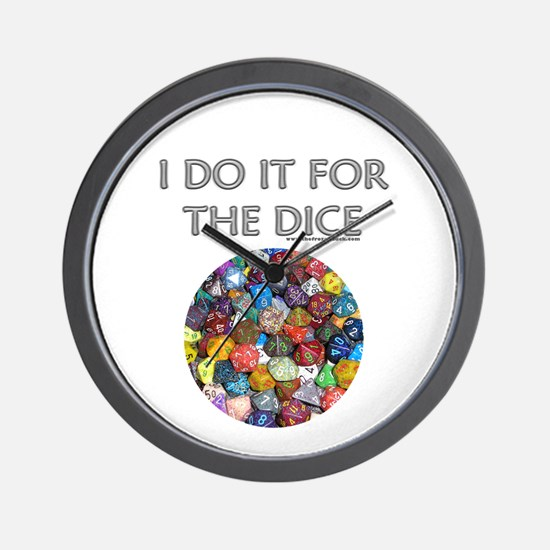 I do it for the dice! (Circular) Wall Clock