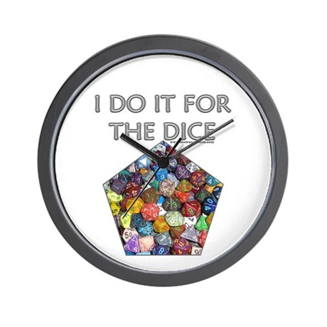 I do it for the dice! (Pentagonal) Wall Clock