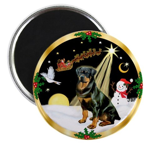 "Night Flight/Rottweiler 2.25"" Magnet (100 pack)"