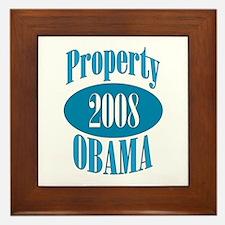 Property 2008 Obama Framed Tile