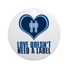 Gay Guy Love Ornament (Round)
