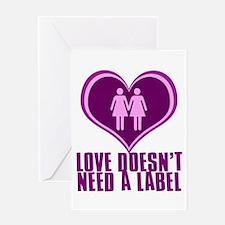 Proud Lesbian in Love Greeting Card