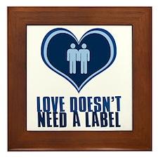 Gay Guy Love Framed Tile