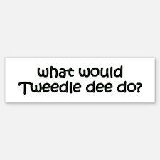 Tweedledee Bumper Bumper Bumper Sticker