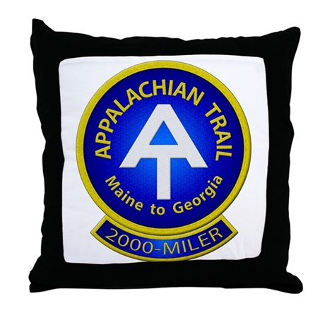 Appalachian Trail 2000-MILER Throw Pillow