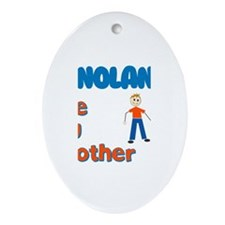 Nolan - The Big Brother Oval Ornament