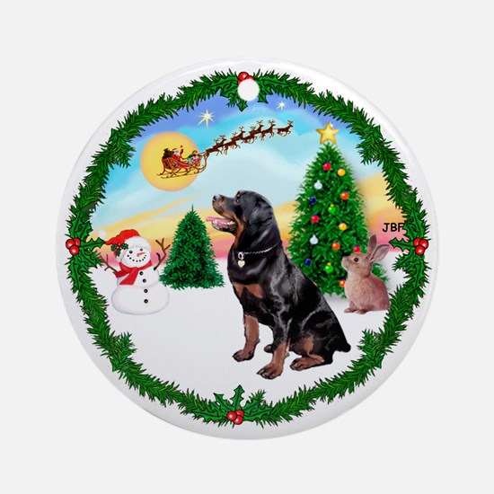 Take Off1/Rottweiler #6 Ornament (Round)