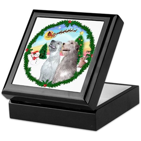 Take Off1/Irish Wolfhound pair Keepsake Box
