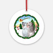 Take Off1/Irish Wolfhound pair Ornament (Round)