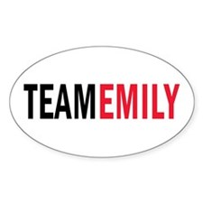 Emily (red) Oval Decal