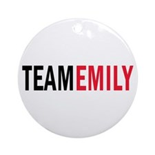 Emily (red) Ornament (Round)
