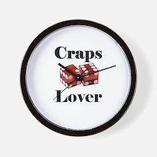Craps Lover Wall Clock