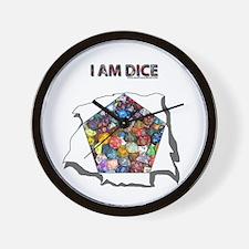 I am dice Wall Clock