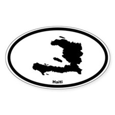 Haiti Outline Oval Decal