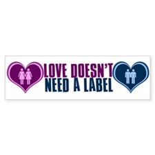 GLBT Love Bumper Bumper Sticker