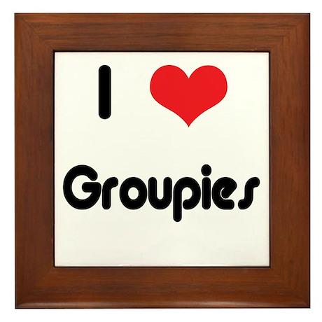 I love Groupies Framed Tile