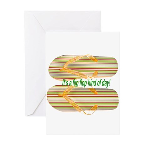 Flip Flops Greeting Card