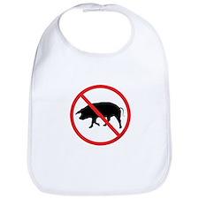 No Pigs! Bib