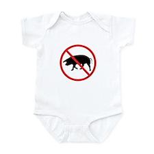 No Pigs! Infant Bodysuit