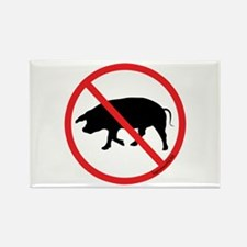 No Pigs! Rectangle Magnet (10 pack)