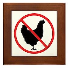 No Chickens! Framed Tile