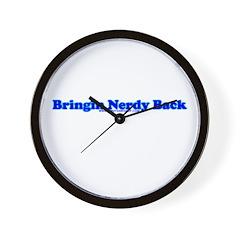 Bringin Nerdy Back Wall Clock