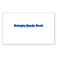 Bringin Nerdy Back Rectangle Sticker 50 pk)