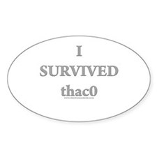 Survived thac0 Oval Decal