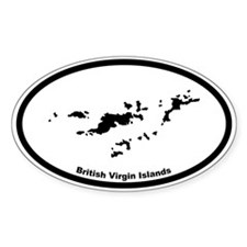 British Virgin Islands Outline Oval Decal
