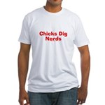 Chicks Dig Nerds Fitted T-Shirt