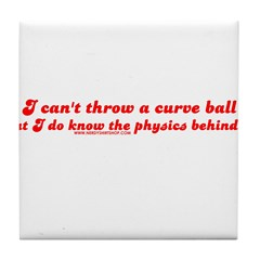 Curve Ball Tile Coaster