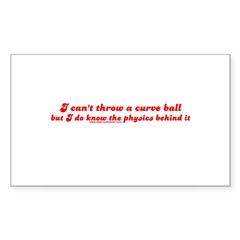 Curve Ball Rectangle Sticker 50 pk)