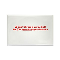 Curve Ball Rectangle Magnet (100 pack)
