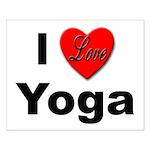 I Love Yoga Small Poster