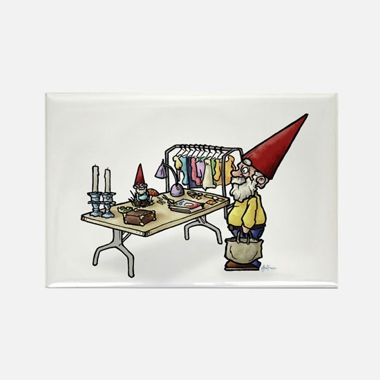 Yard Sale Gnome Rectangle Magnet