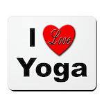 I Love Yoga Mousepad